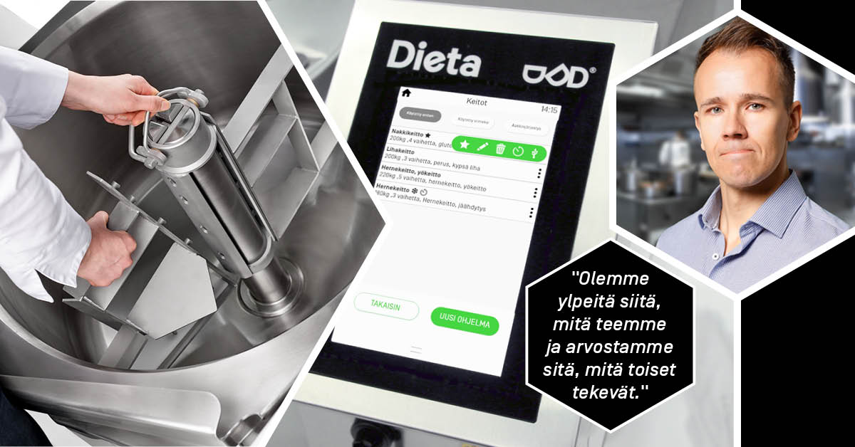 Dietatecin uutena toimitusjohtajana huhtikuussa aloittanut Ville-Veikko Litmanen, on toiminut aiemmin Dieta-patojen myynnin ja suunnittelun parissa.
