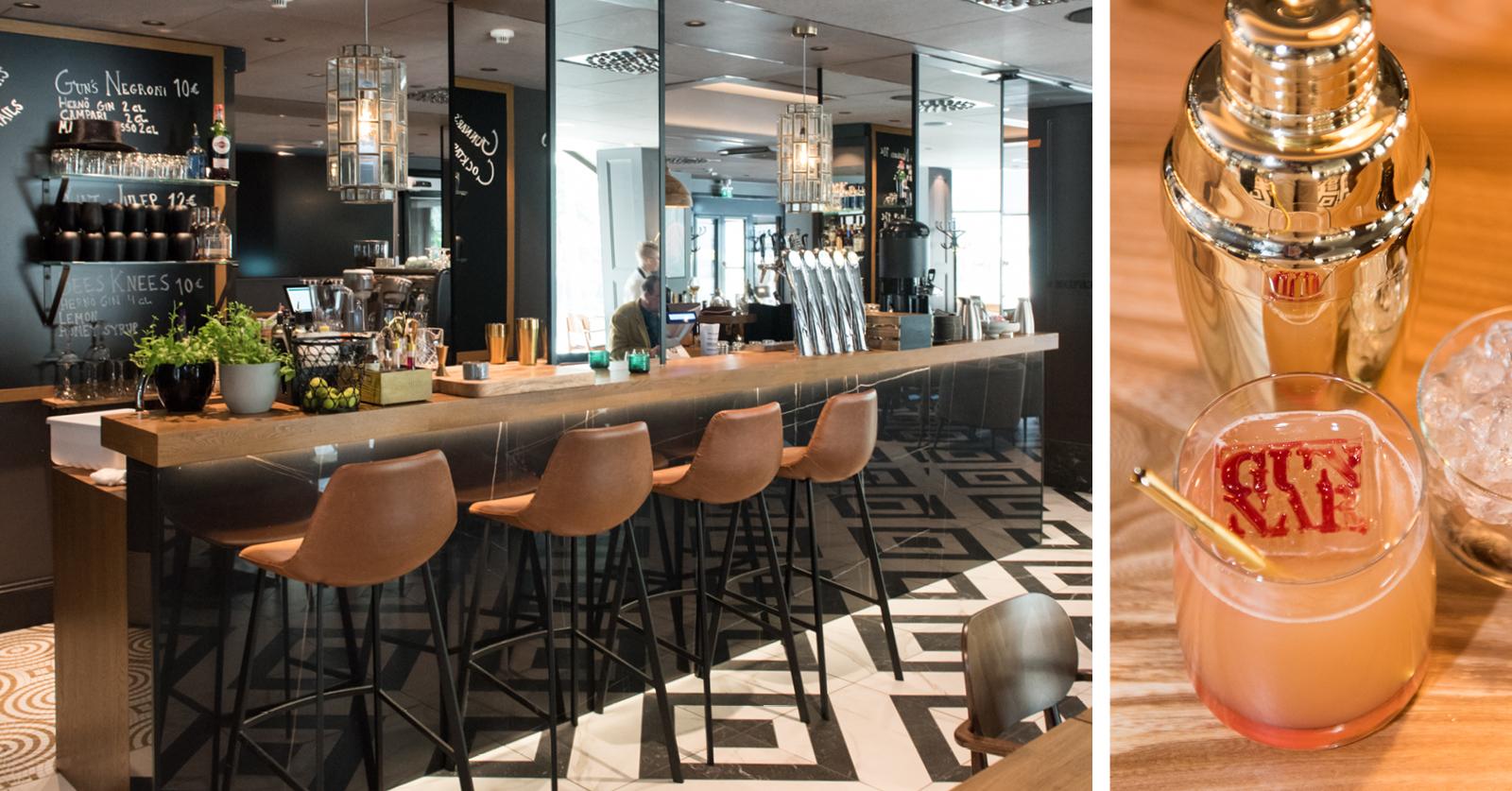 Gunnar Eatery & Barissa kaikki cocktailit tarjoillaan eri lasissa.