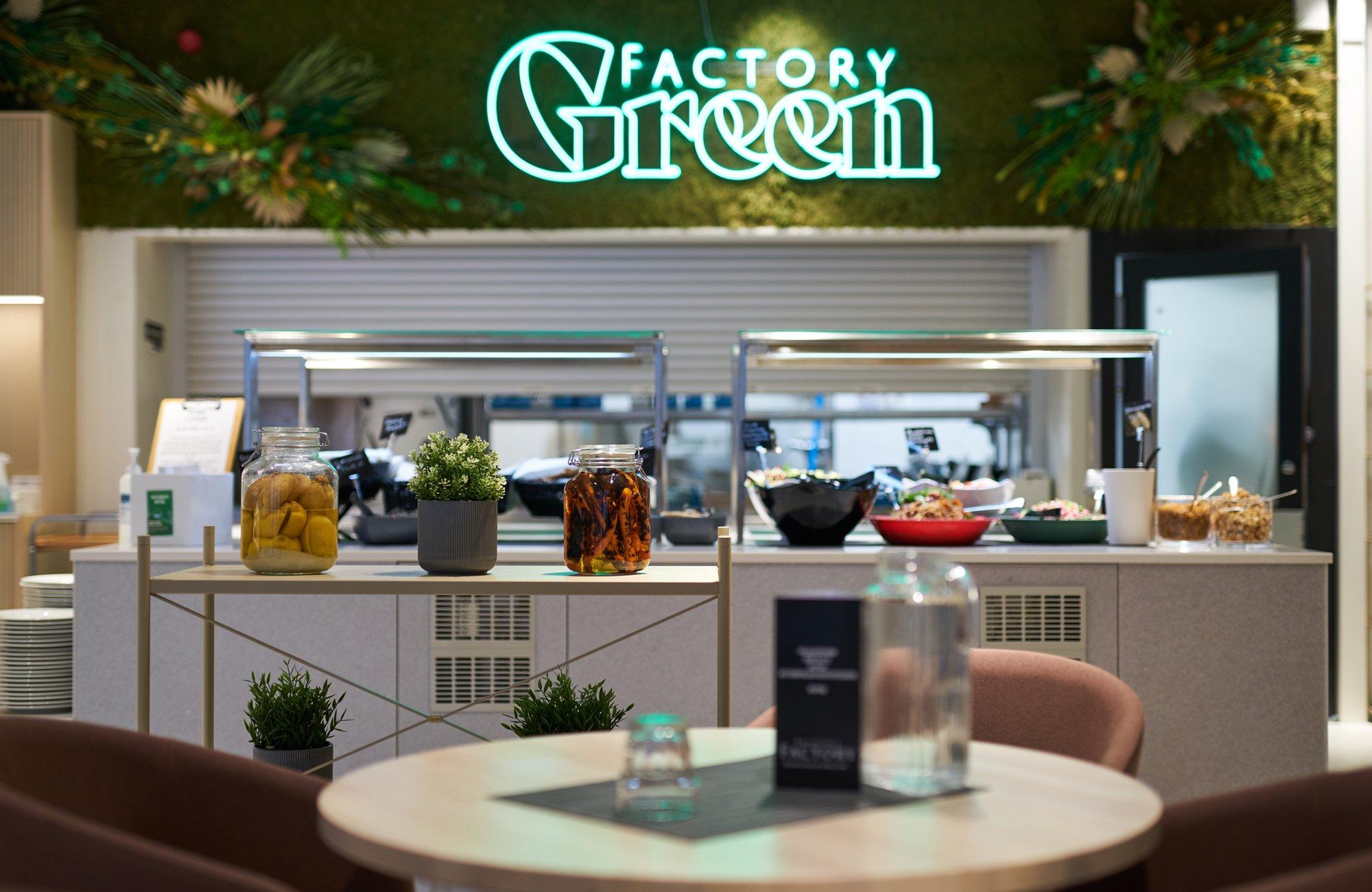 Factoryn uusi sisarravintola Green Factory avasi ovensa syyskuussa