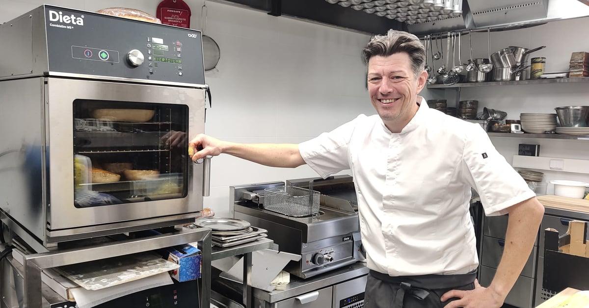 Keittiöpäällikkö Toni Öhman.