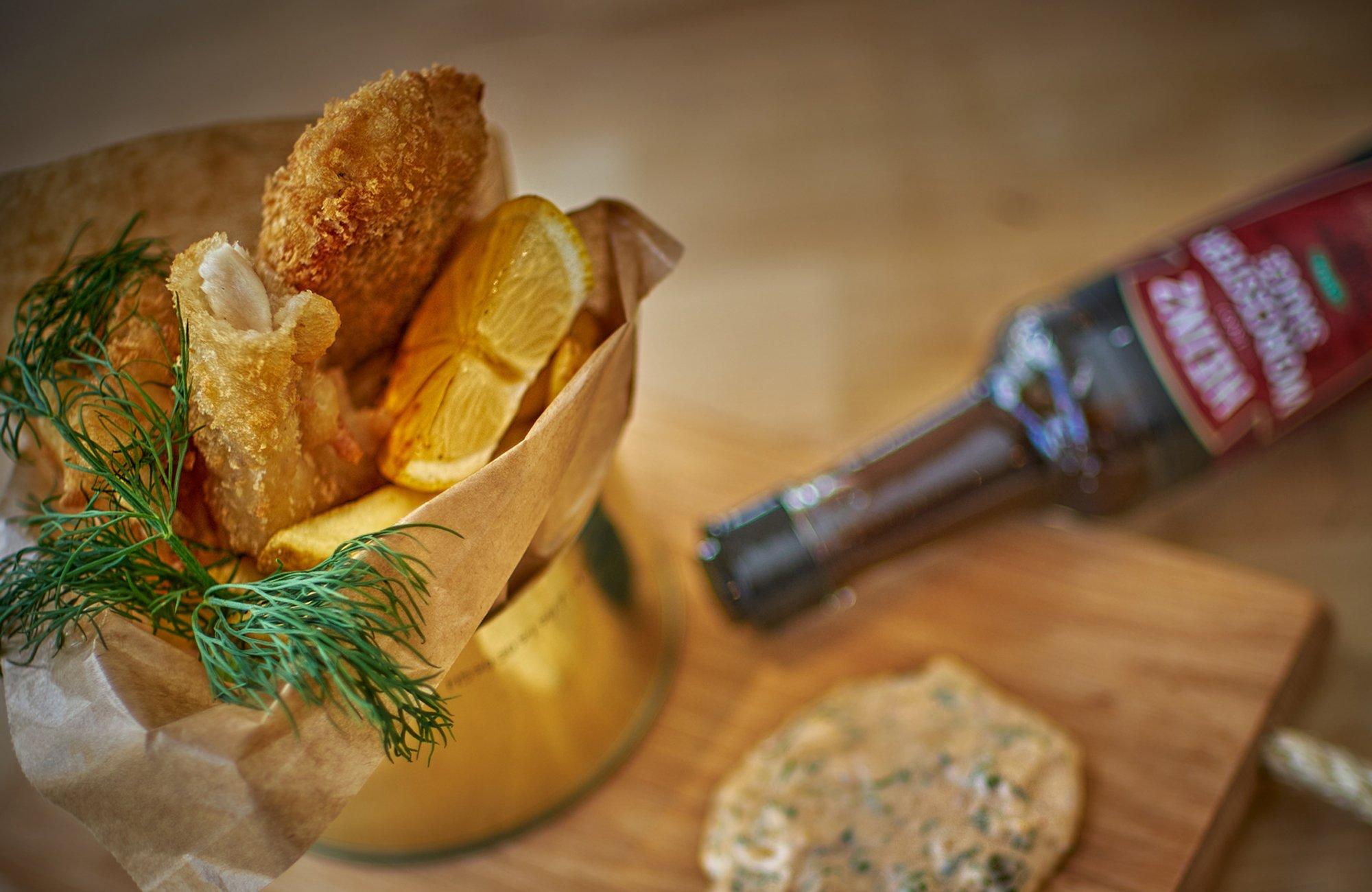Ravintola Nosturin Fish&Chips tehdään järvikalasta