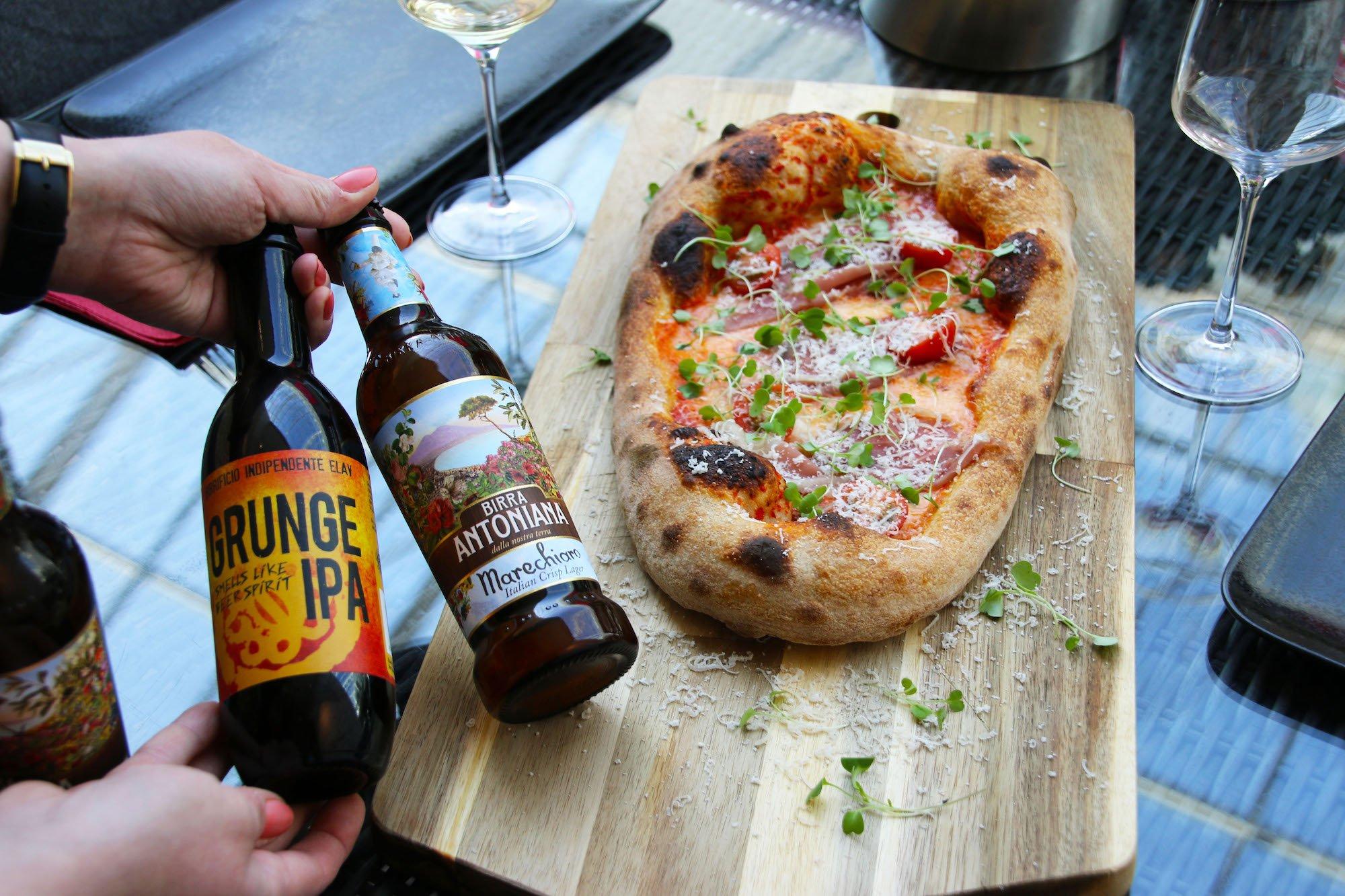 Pizza ja italialainen olut