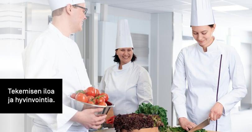 Dieta Genierin keitto-ohjelmat ohjaavat automaattisesti toimintaa ja tarvittaessa kokkia prosessin mukaisesti.