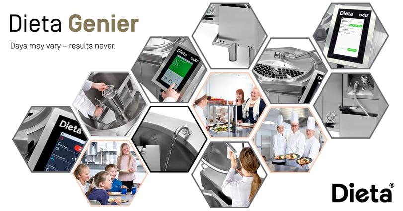 Dieta Genier -monitoimipata on suunniteltu tiiviissä yhteistyössä käyttäjien ja keittiömestareiden kanssa.