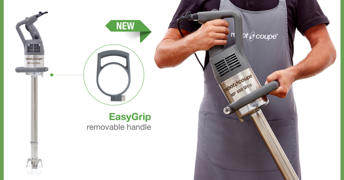 Robot-Coupe EasyGrip -kahva tekee työskentelystä entistäkin ergonomisempaa
