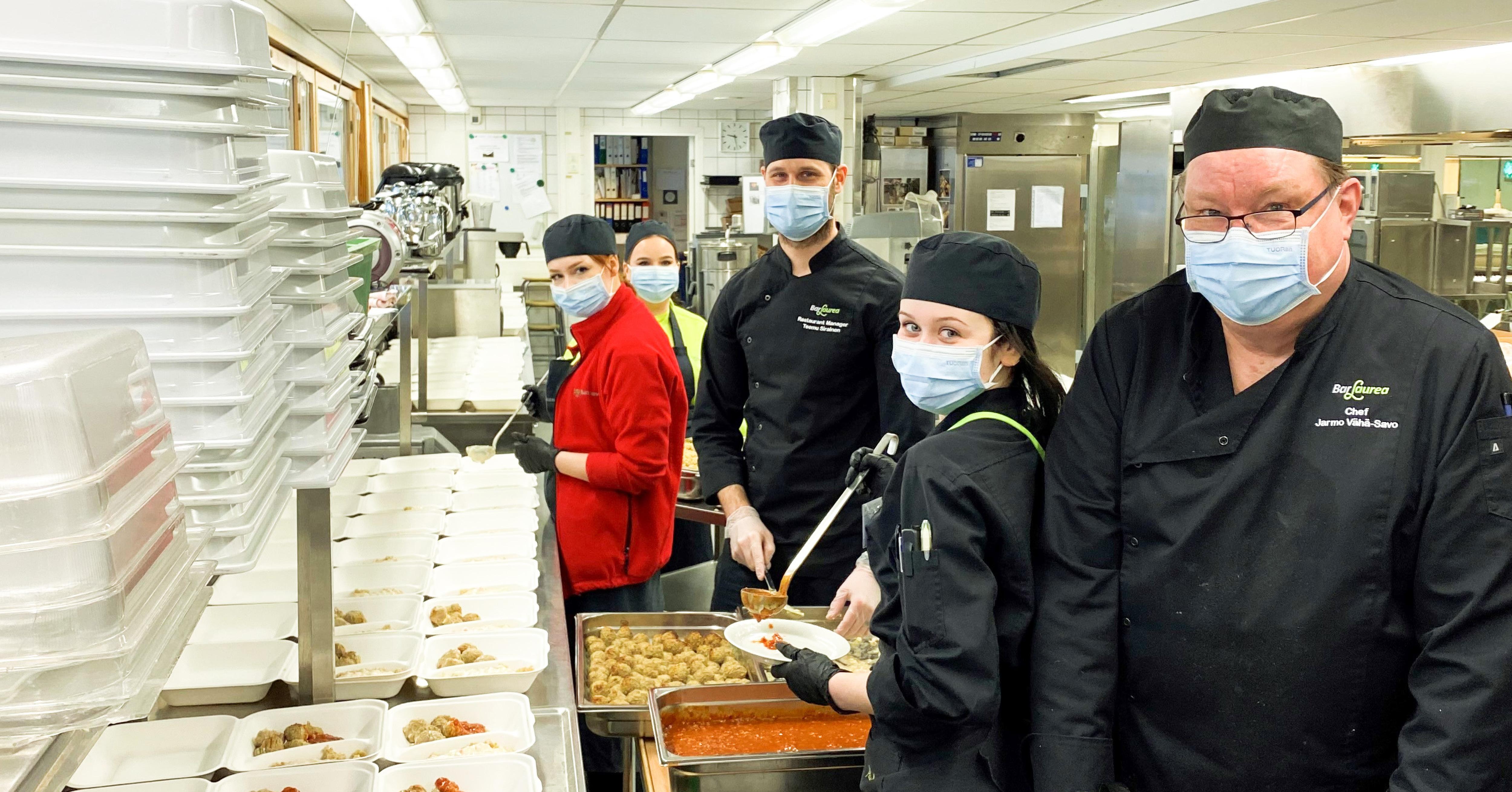 BarLaurea valmistaa 500 valmisannosta Espoon ruoka-avulle