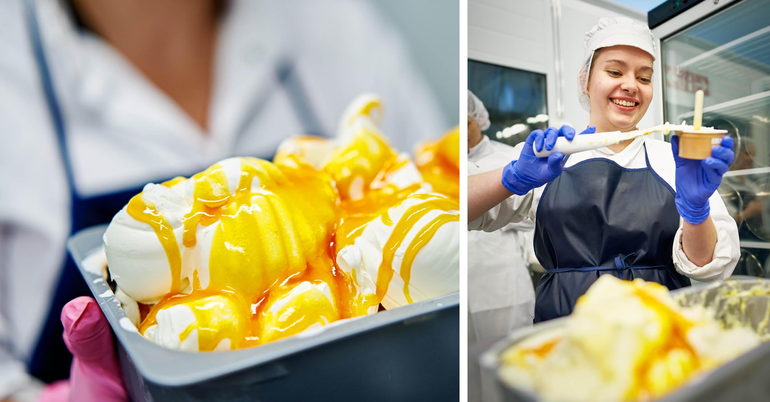 Jäätelön valmistus osaksi OSAO Kaukovainion palvelut -yksikön elintarvikealan perustutkinnon opintoja